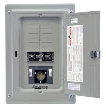 Reliance controls panellink 3 pole transfer switch xrc0603a 30 amp 3 pole w meter inlet 1018 branch circuits sciox Gallery